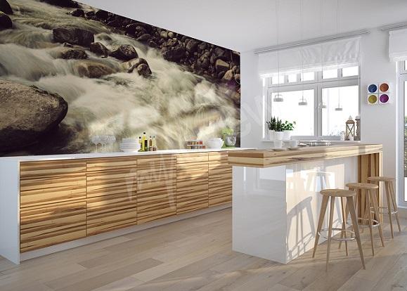 Modele de papier peint pour cuisine   Idée cuisine